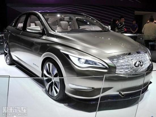 外观方面,英菲尼迪le量产版大致采用了le概念车的整车设计风高清图片
