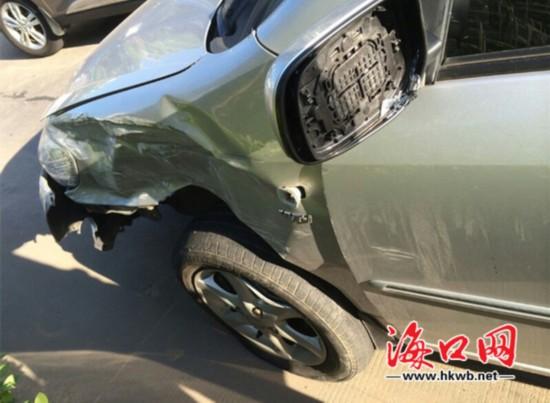 花冠车受损严重