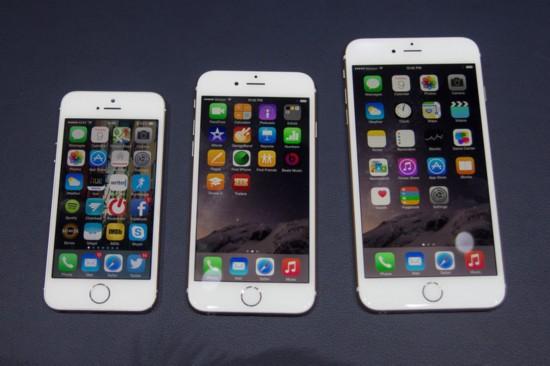 iphone6屏幕尺寸设计为4.7和5.5英寸两个版本