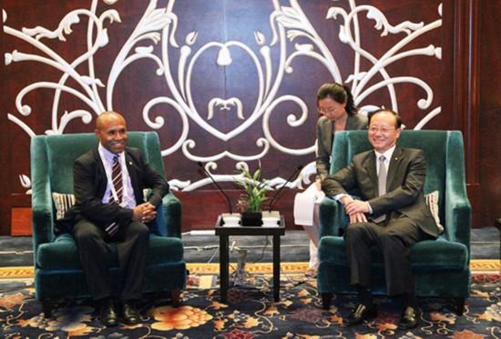 邵琪伟会见巴布亚新几内亚文化、艺术与旅游部部长