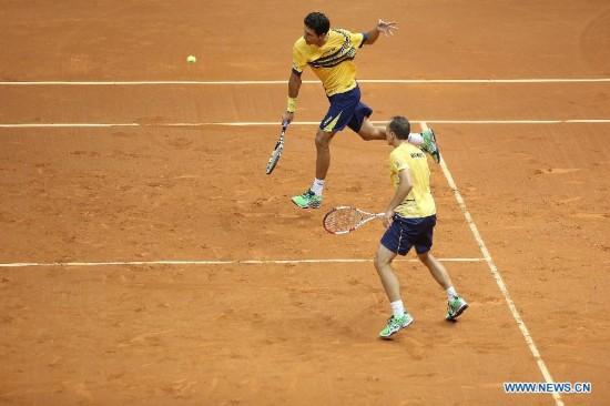 Brazil beats Spain in  Davis Cup play-off