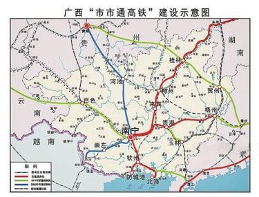 广西梧州手绘地图