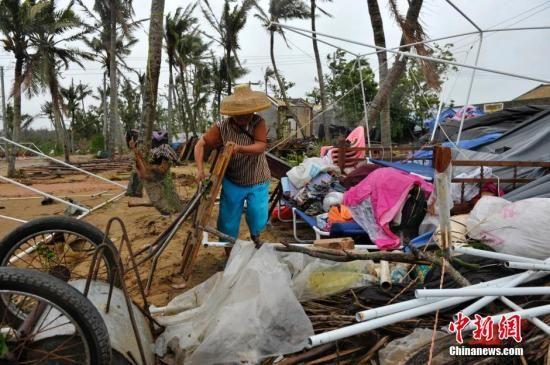 文昌两个月内遭受两个强台风袭击 损失惨重