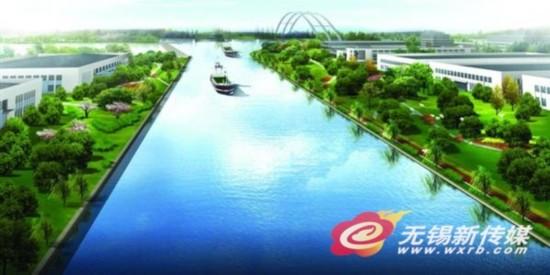 河道景观围墙效果图
