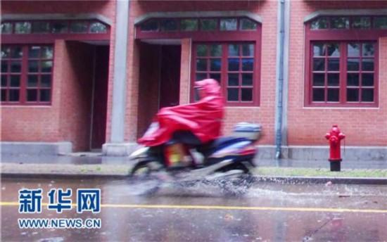 """台风""""凤凰""""登陆上海 华东大面积航班受影响"""