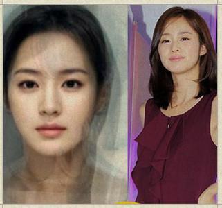 韩国女星捏塌鼻子