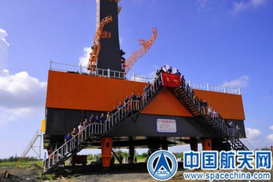 海南发射场长五和长七火箭发射平台完成安装