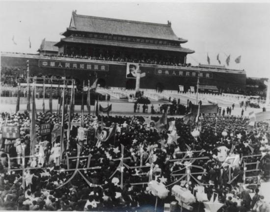 1949年10月1日,开国大典会场