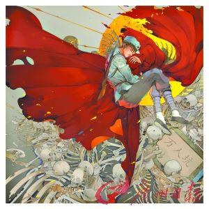 漫画家共绘广州抗战图观万人坑毋忘国耻(图甜美免费漫画咬合的。图片