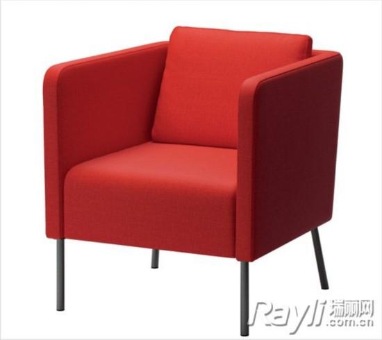 IKEA宜家家居 红色单人座椅-动感活力沙发区布置提案 爱上小起居图片