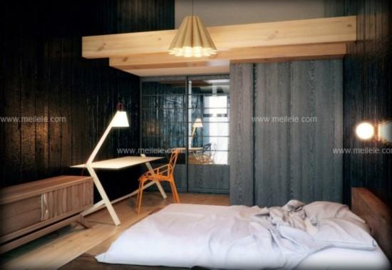 日式简约装修效果图:儿童房日式榻榻米床设计