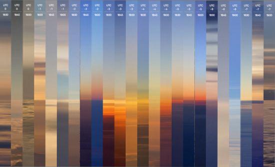 图为24次日落的拼接图。
