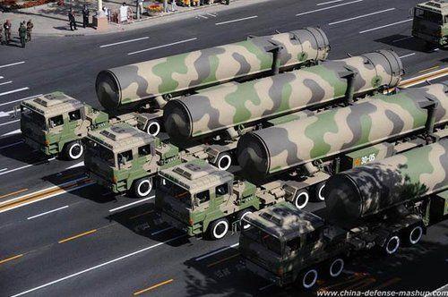 中国洲际导弹属全球第二梯队 东风31远超