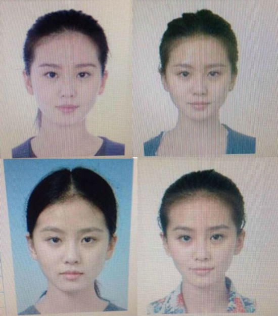 中日女星素颜照PK:刘诗诗证件照被赞天然美人