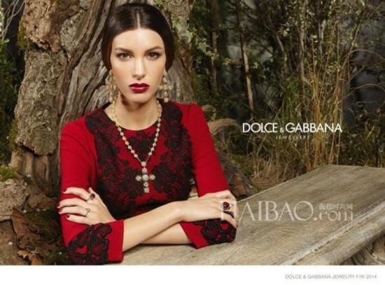杜嘉班纳(Dolce&Gabbana) 2014秋冬珠宝大片模特:凯特・金 (Kate King)