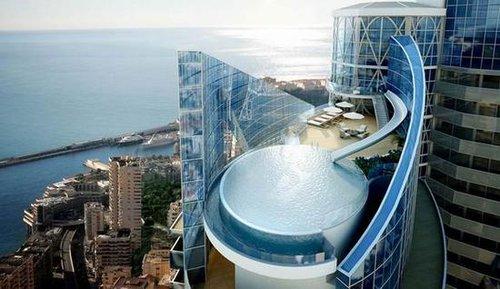 游泳池里俯览地中海 世界最贵公寓叫价24亿