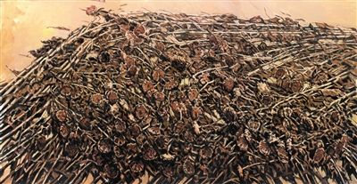 """展览呈现了许江近十年创作""""葵园""""主题下的作品全貌。他在接受新京报记者专访时指出,自己的艺术生涯几乎就是一个回访葵园大地的过程。"""