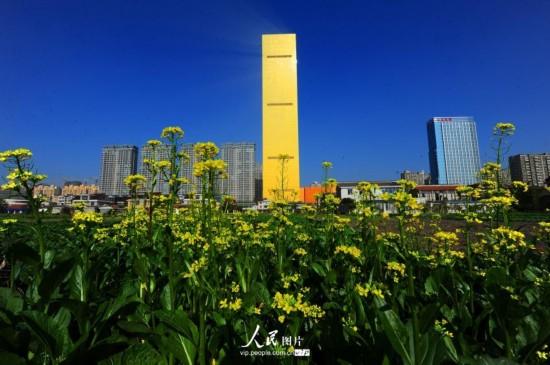 2013年10月26日,江苏省海安县,被称为金砖楼的地标建筑中洋豪生大酒店