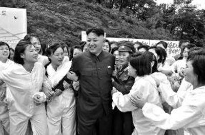 在朝鲜金正恩受到民众爱戴