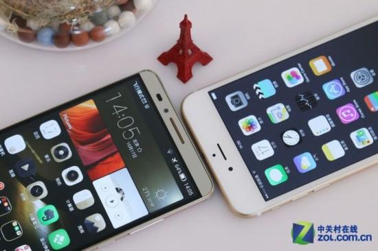 Plus对比华为Mate7 智能手机大屏的较量