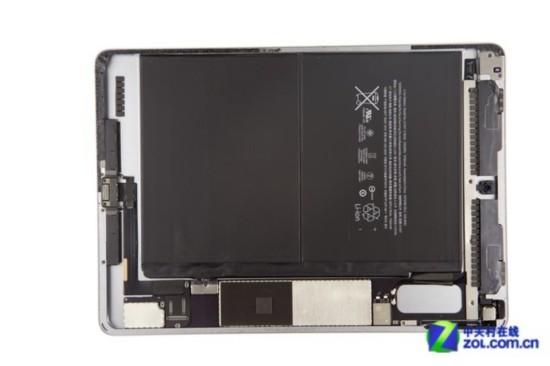 ipadair2主板和电池等   在拔除屏幕和home键排线后,屏幕和ipadair2