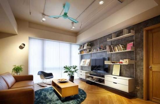 66平米工业简约风个性公寓装修效果图
