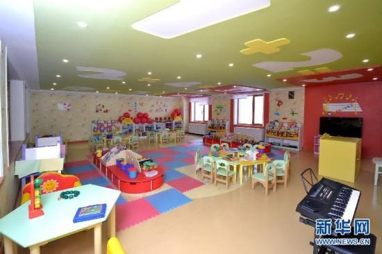 平壤孤儿院和幼儿园设有保育室