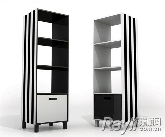 forme黑白书架-绝赞黑白灰 素描 家的美颜