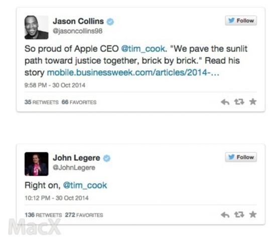 苹果高管、微软CEO等赞扬库克出柜有勇气