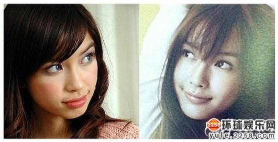 elababy整容前后侧脸对比-全方位揭秘最成功的 变脸女王 她叫Ange图片