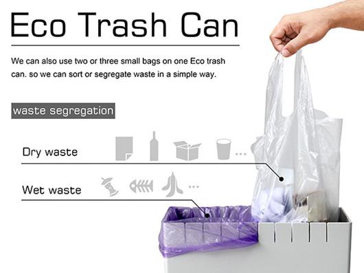分分钟变分类垃圾桶 完美适配任何垃圾袋的设计