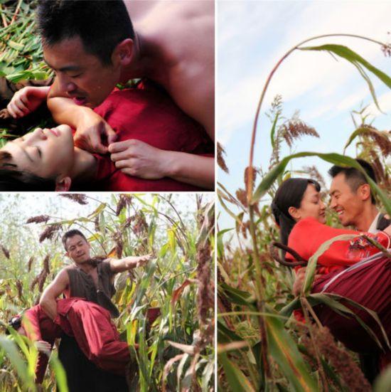 《红高粱》曝高粱地野合激情戏 朱亚文吻遍周