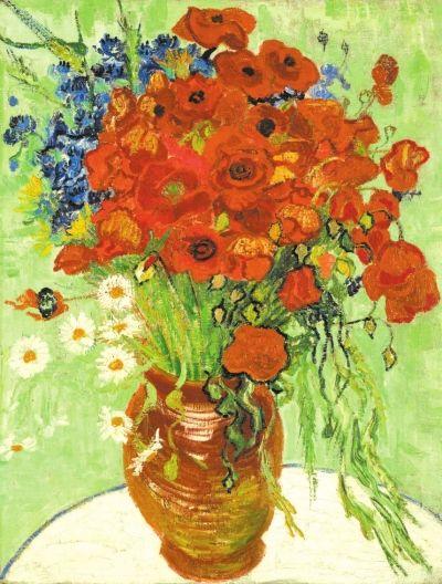其中,来自文森特·凡高的一幅静物画《雏菊与罂粟花》以6176.