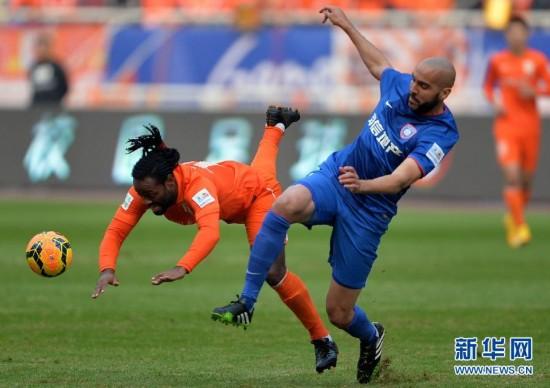 (体育)(1)足球――足协杯决赛首回合:山东鲁能迎战江苏舜天