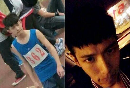 照片中,男生齐刘海发型,极像台湾明星柯震东.图片