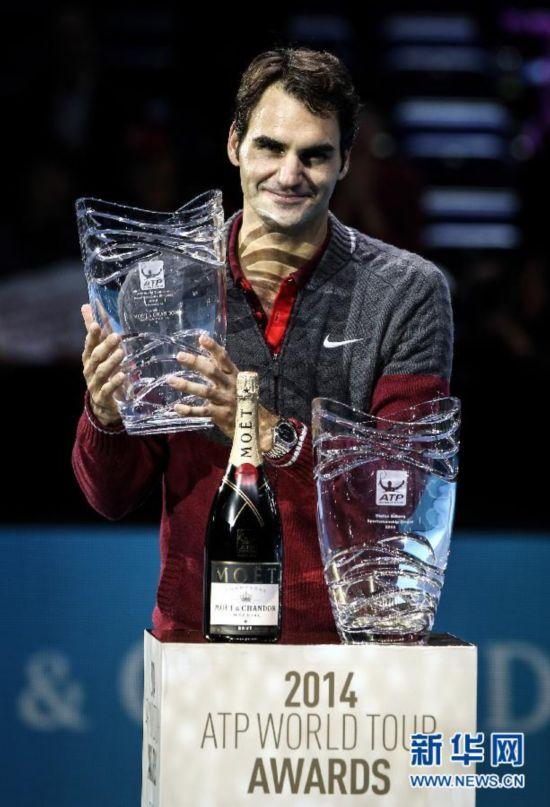 ATP年终总决赛:费德勒荣获两奖项