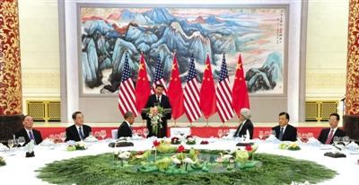 习近平人民大会堂宴请奥巴马 多位常委出席(图)