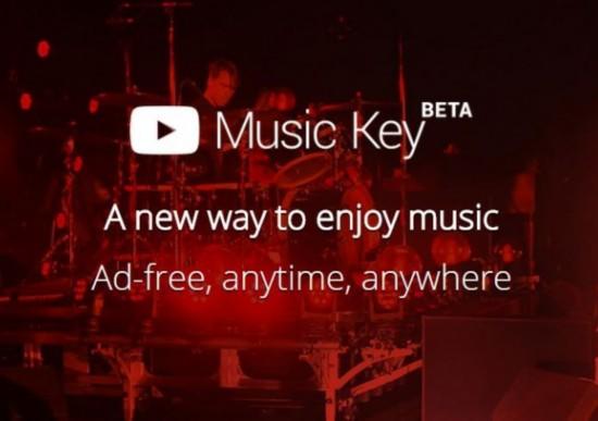 YouTube推付费流媒体音乐服务Music Key