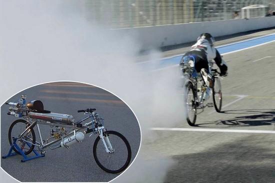 法拉利,而且创下了世界纪录,成为速度最快的自行车.   据了高清图片