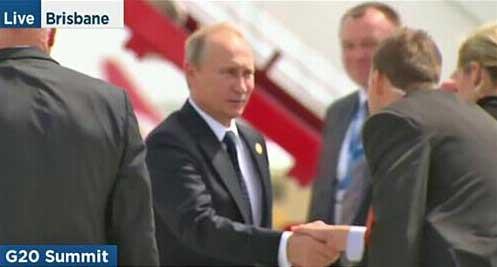 """普京从G20峰会""""早退""""召开发布会后乘专机离澳"""