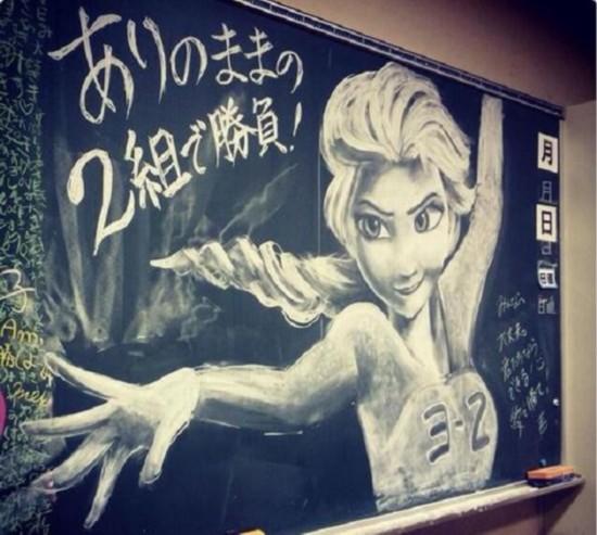 创意黑板报粉笔画_个性黑板报图片