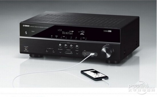 1声道家庭影院收音扩音机采用分离式放大电路设计,前面板配备usb接口.