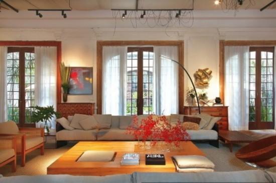 陕西频道 经济 房产 家居装修    英式乡村风设计,客厅.