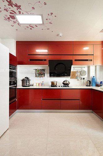 15款靓丽厨房橱柜装修效果图 时尚实用的厨房设计