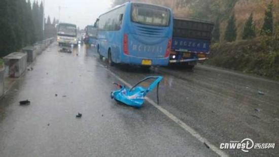 高清组图 宝鸡 岐山县发生多车相撞 车祸 现场惨 高清图片
