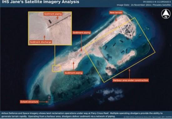 外媒曝光永暑礁近照 新造1平方公里陆地(图)