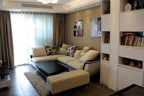 现代简约风格卧室飘窗实拍图