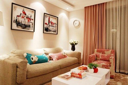 9万搞定79平温馨小户型 暖粉色打造浪漫实用两居