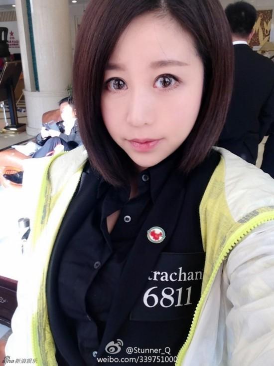 台球美女裁判胸器逼人 走红网络私照曝光【14