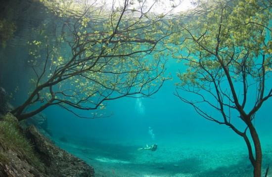 奥地利天然水下公园 美如梦幻